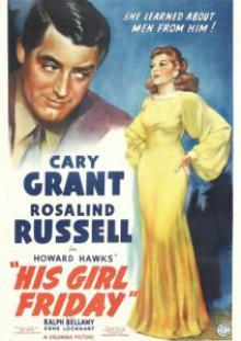 Его девушка Пятница, 1940